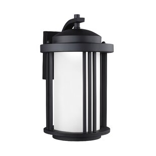 Reviews Dunkley 1-Light Outdoor Wall Lantern By Darby Home Co