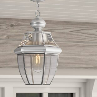 Gustavson 1-Light Outdoor Hanging Lantern By Three Posts Outdoor Lighting