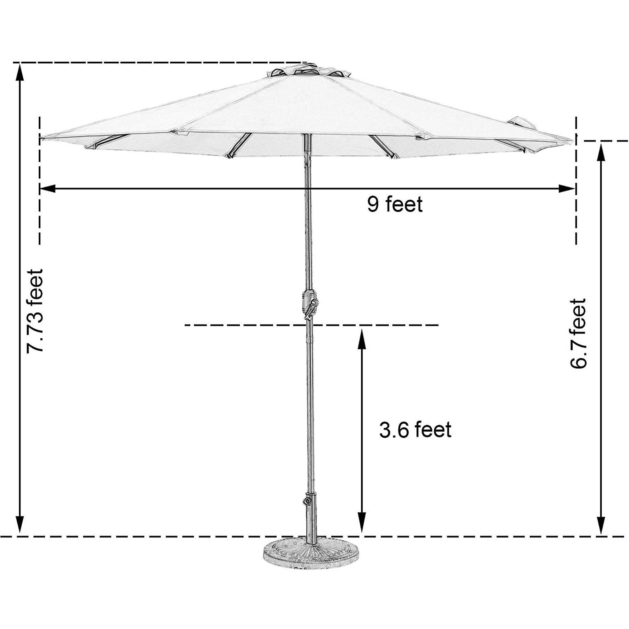 Latitude Run Tulin 9 Lighted Market Umbrella Reviews Wayfair