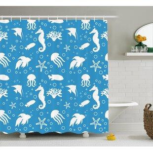 Seahorse Shower Curtains   Wayfair