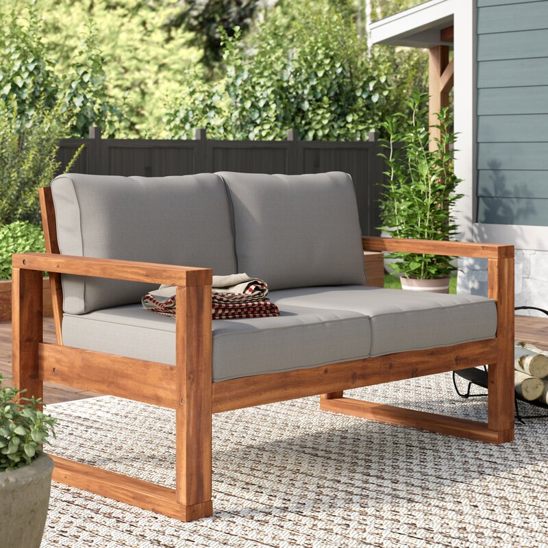 Union Rustic Lyall Loveseat with Cushion & Reviews | Wayfair