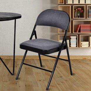 Fabric Padded Folding Chair Set Of 4