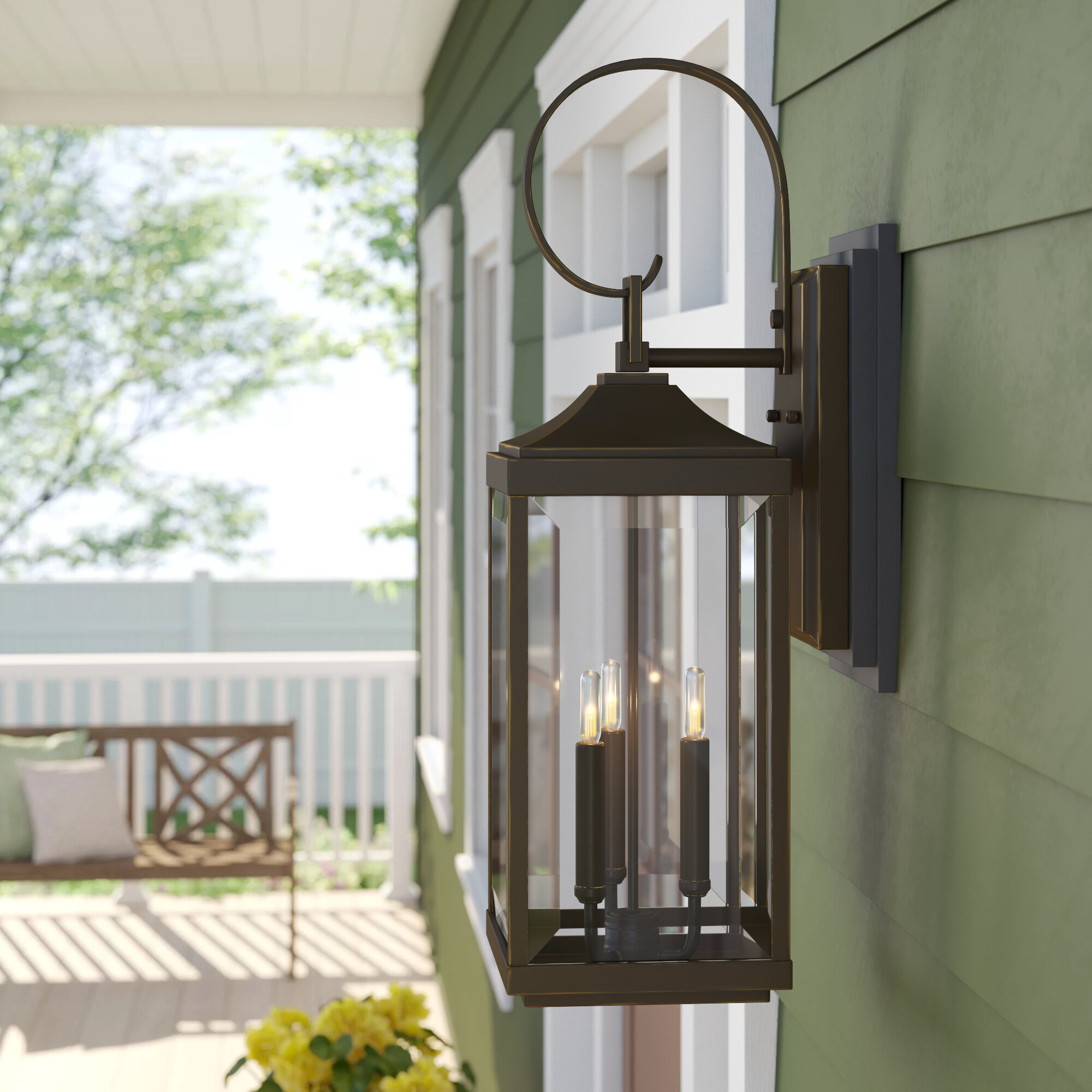 Birch Lane Agastya 3 Bulb 30 62 H Outdoor Wall Lantern Reviews Wayfair