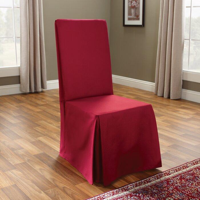 Brilliant Cotton Duck Box Cushion Dining Chair Slipcover Cjindustries Chair Design For Home Cjindustriesco