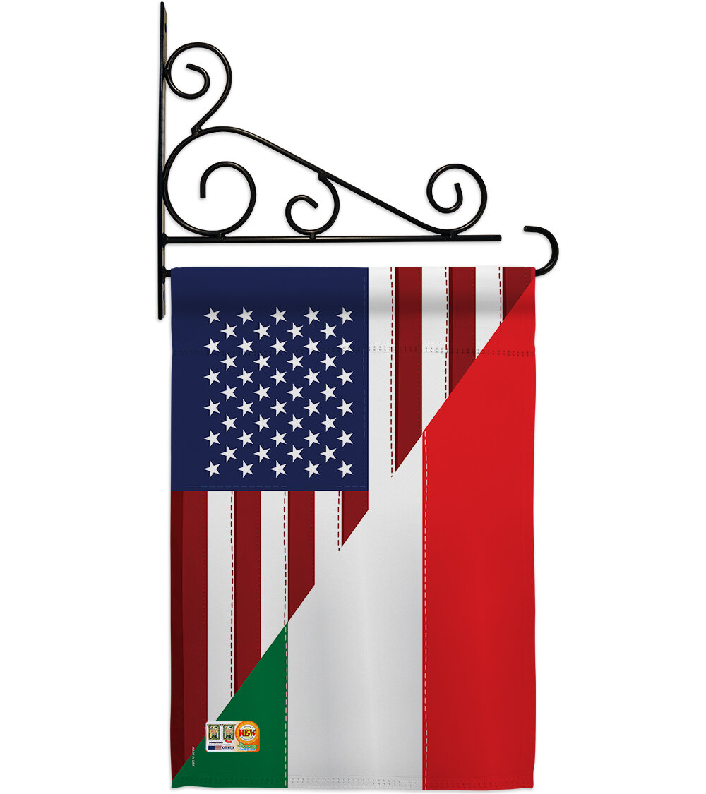 Breeze Decor Us Italian Friendship 2 Sided Polyester 19 X 13 In Flag Set Wayfair