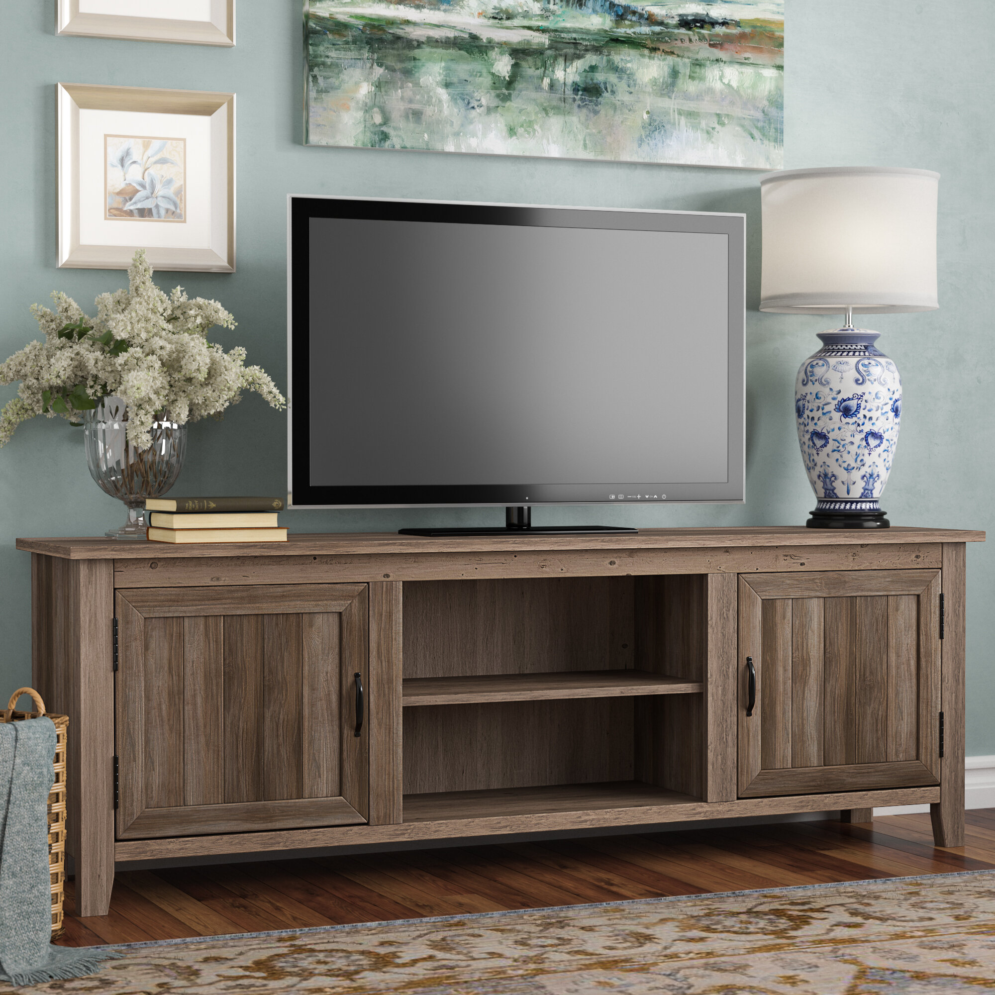 Gracie Oaks Shreffler Tv Stand For Tvs Up To 78 Reviews Wayfair