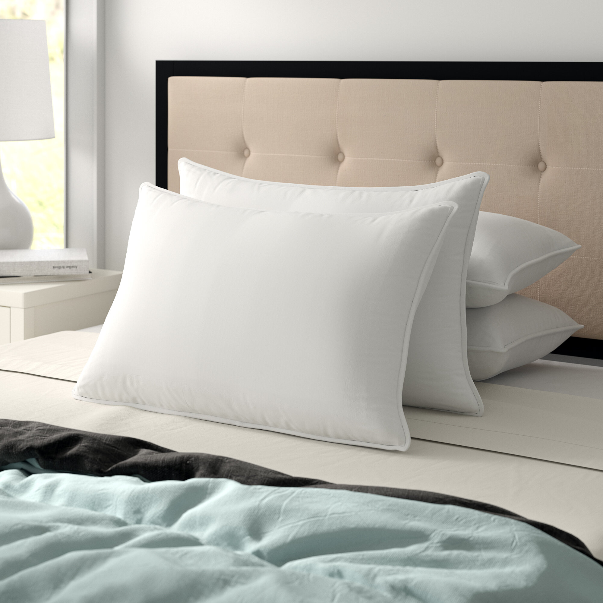 Pair of Bed Pillows Memory Foam Soap h12 Offer Made Italy