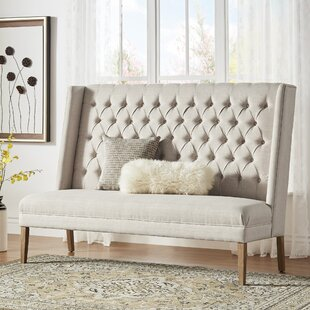 Kaitlin Solid Linen Tufted Upholstered Bedroom Bench