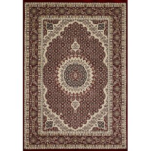Vimoda Red/Cream Rug by House Additions