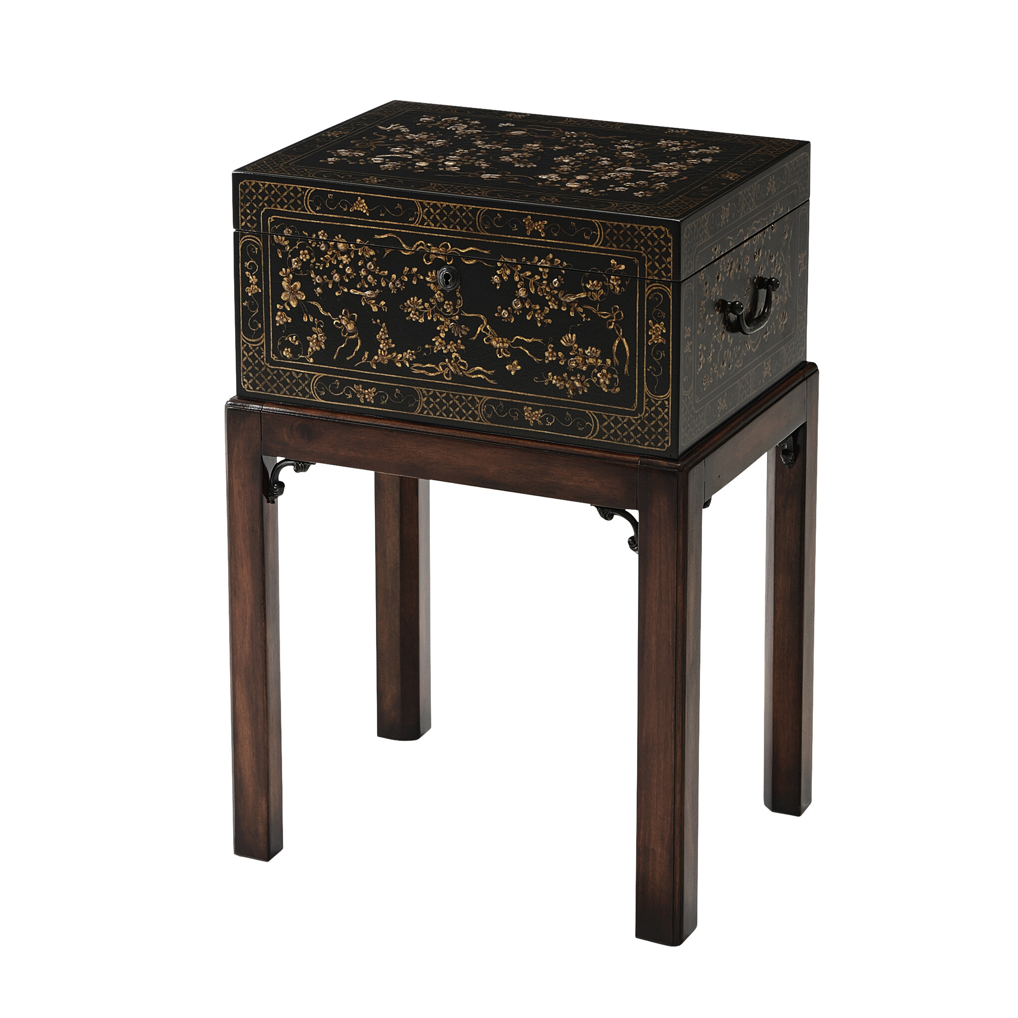 Theodore Alexander Indochine End Table With Storage Perigold