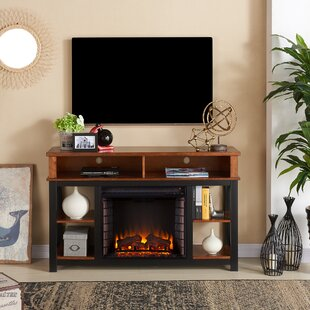 Contreras TV Stand with Fireplace by Alcott Hill