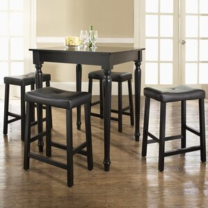 5 Piece Counter Height Pub Table Set by Crosley