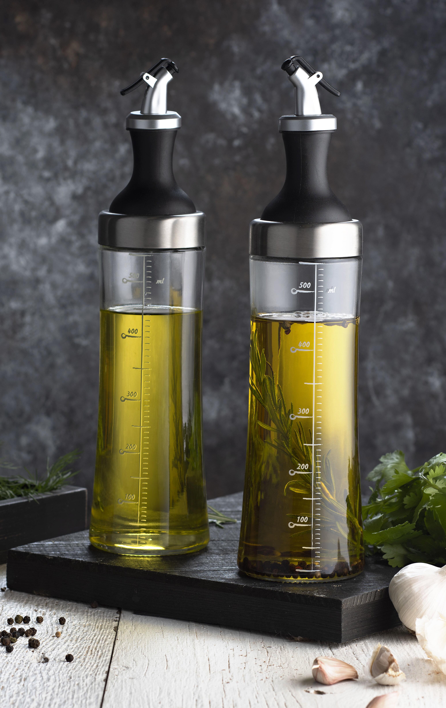 Prep Savour Glass 2 Piece Oil And Vinegar Cruet Set Reviews Wayfair