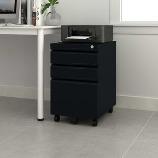 Hammontree 3 Drawer Mobile Vertical Filing Cabinet