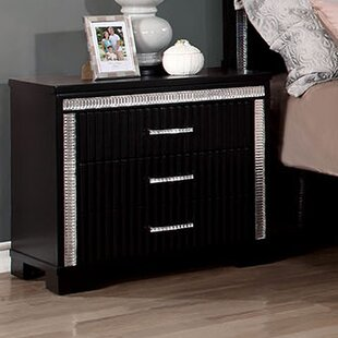 Hyde 3 Drawer Nightstand