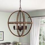 Kennett 4-Light Unique / Statement Globe Chandelier byBirch Lane™ Heritage