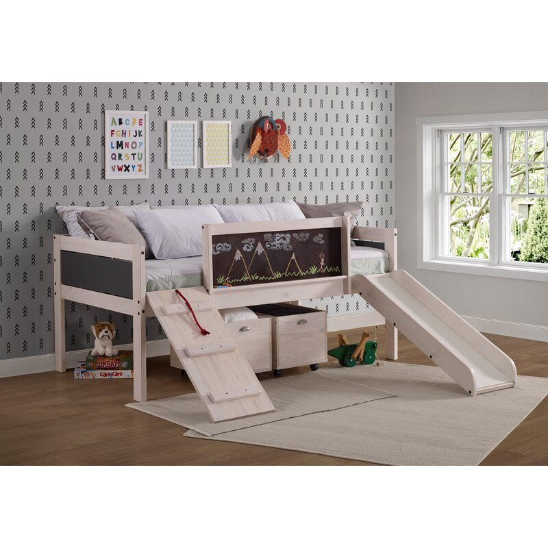 Zoomie Kids Schlemmer Twin Low Loft Bed with Drawers & Reviews