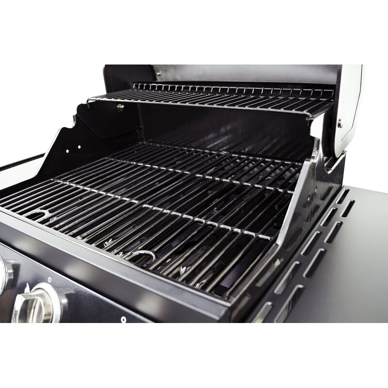 Lp 3 Burner Propane Gas Grill With Cabinet