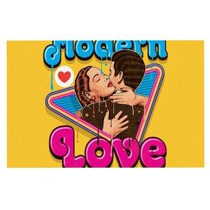 'Modern Retro Love' Neon Decorative Doormat. '