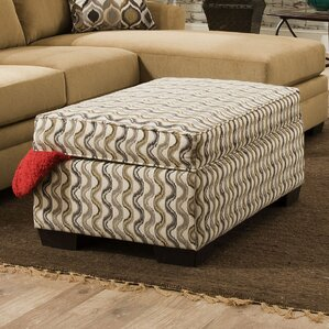 Macklin Upholstery Wren Undulate Storage Ottoman by Simmons Upholstery by Darby Home Co