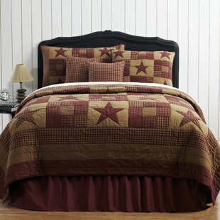 Louisa Burgundy/Tan Quilt Collection