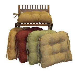 Microsuede Fabric Dining Chair Cushion Set Of 2