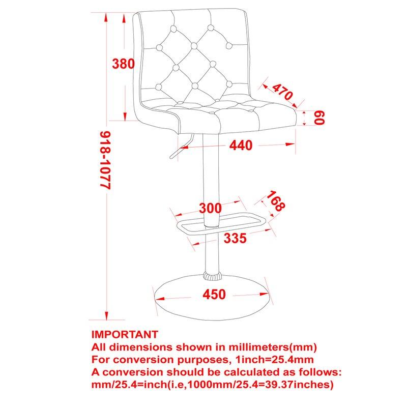 Brilliant Witney Adjustable Height Swivel Bar Stool Ncnpc Chair Design For Home Ncnpcorg