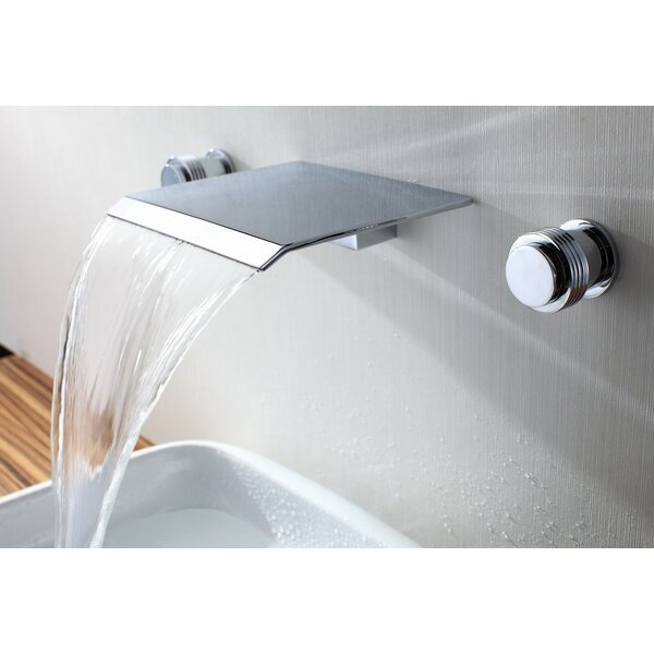 Bathroom Sinks Wall Mount sumerain double handle wall mount waterfall bathroom sink faucet