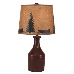 Burke Clay Jug Tree and Canoe Shade 18 Lamp