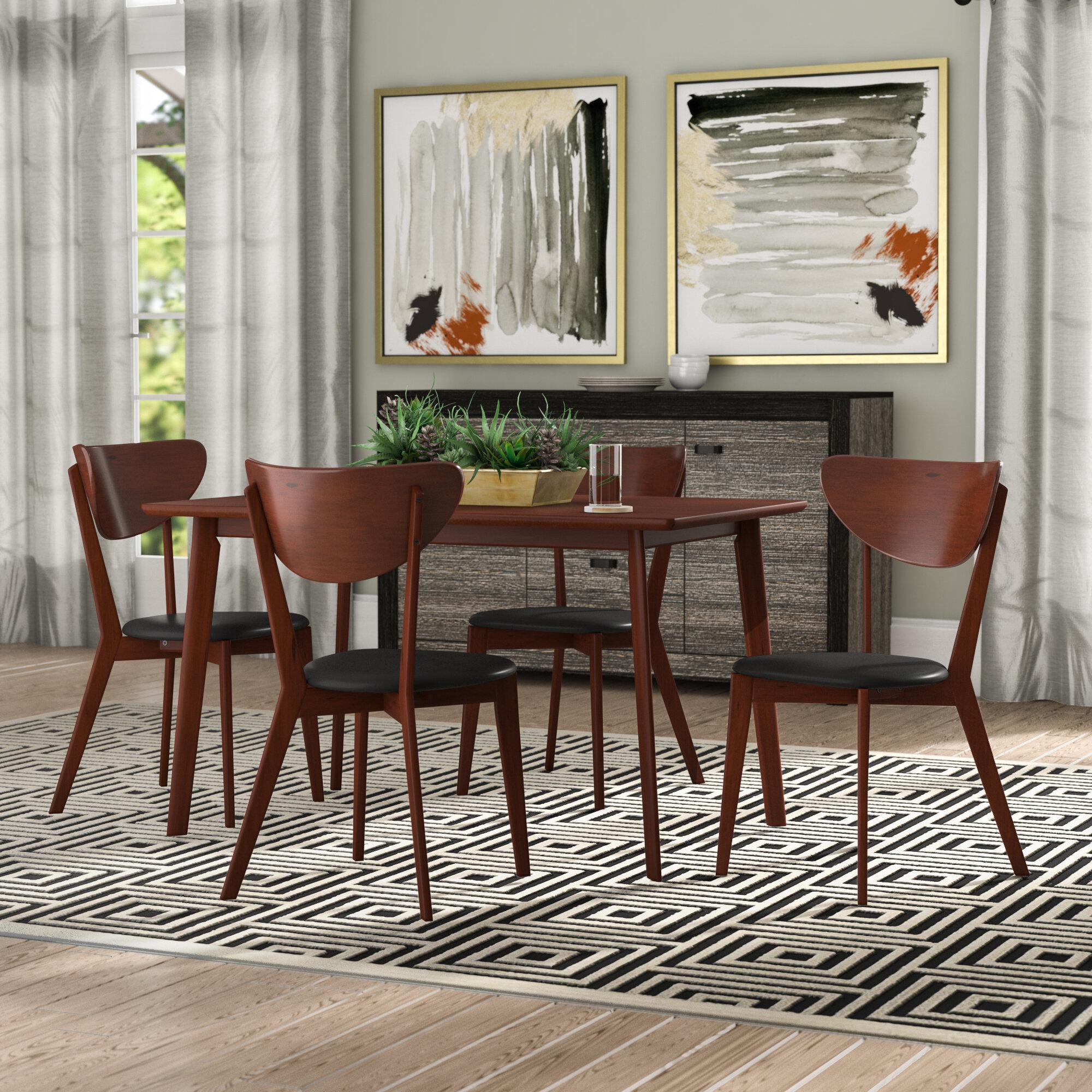 George Oliver Bulgera Modern Wood 5 Piece Dining Set Reviews