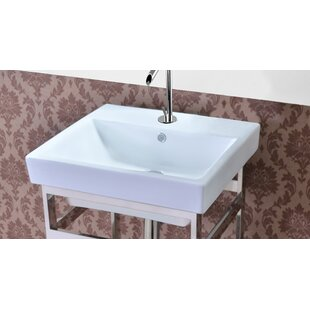 Milano Ceramic 21 Console Bathroom Sink with Overflow ByEmpire Industries