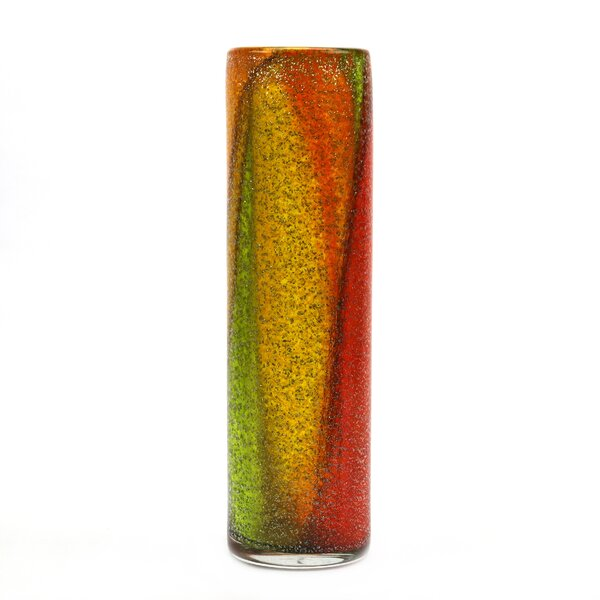 Orren Ellis Alstone Orange Yellow Green 15 Glass Table Vase Wayfair