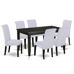 Tiara Table 7 Piece Solid Wood Dining Set Winston Porter