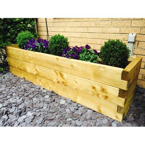 Boligee Wooden Planter Box Freeport Park Size: 45cm H x 180c