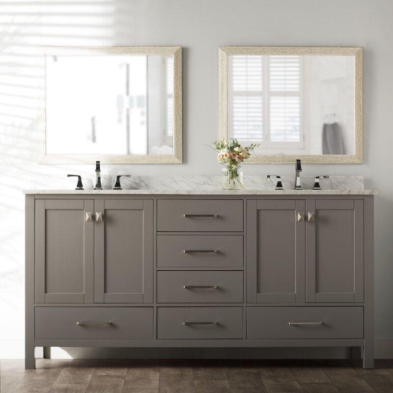 double bathroom vanity. Newtown 72  Double Bathroom Vanity Set Beachcrest Home Reviews
