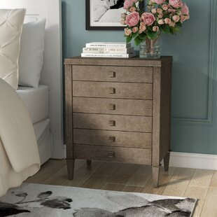 Reviews Albright 3 Drawer Wood Nightstand by Everly Quinn