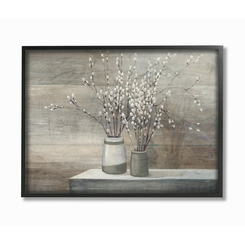 Pussy Willow Still Life - Painting Print on Canvas