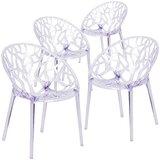 Keeney King Louis Back Side Chair in Clear (Set of 4) by Orren Ellis