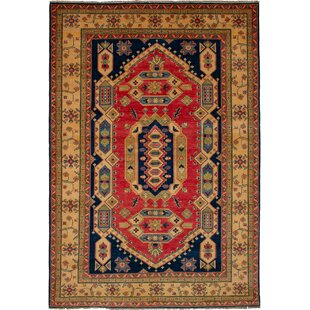One-of-a-Kind Noriko Hand-Knotted Wool Copper/Navy Area Rug ByIsabelline