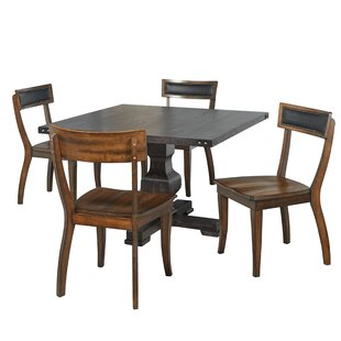 Kaiser 5 Piece Solid Wood Dining Set Gracie Oaks