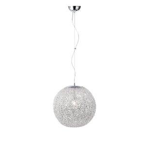 Sphere pendant light wayfair tatum 1 light sphere pendant light aloadofball Gallery