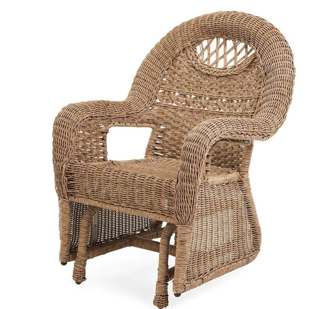 Plow U0026 Hearth Prospect Hill Wicker Glider Chair | Wayfair