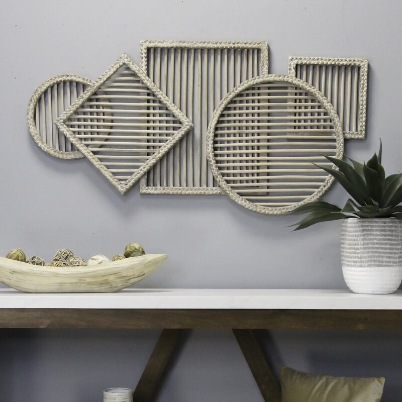 Rattan Statement Wall Décor. Boho statement wall decor.  How to decorate your boho style living room.