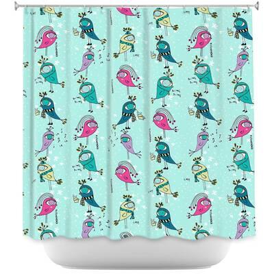 Funky Birds Shower Curtain