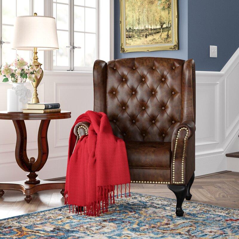 Hokku Designs 33 Wide Tufted Wingback Chair Reviews Wayfair Ca