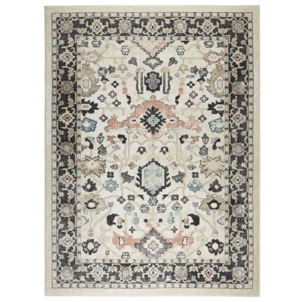 New Weave Paige Ivory/Charcoal Area Rug by Joss & Main
