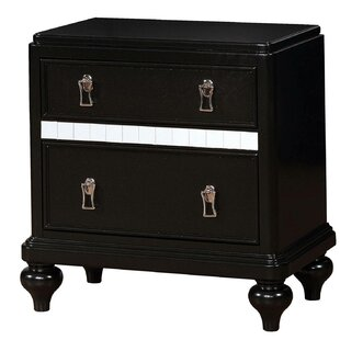 Evans 2 Drawer Nightstand