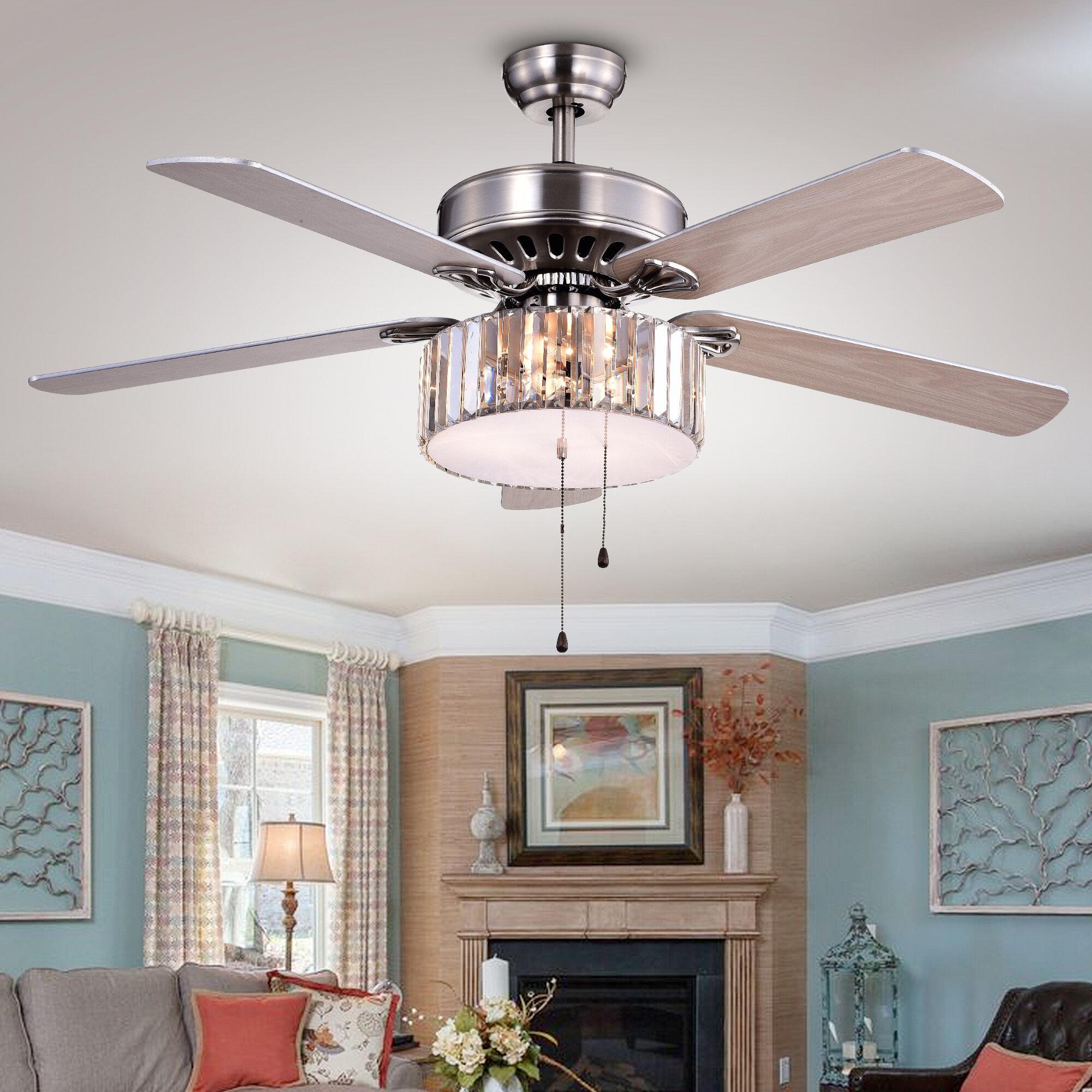 Warehouse of Tiffany Kimalex Wood 4 Blade Ceiling Fan & Reviews