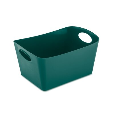 Turn on the Brights Rectangular Plastic Storage Bin Size: 9.3 H x 19 W x 12.2 D, Color: Emerald Green