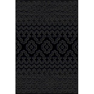 Buying Gravette Modern Gray/Black Area Rug By World Menagerie